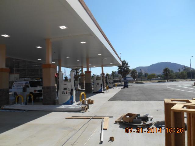 gas station construction and development corona
